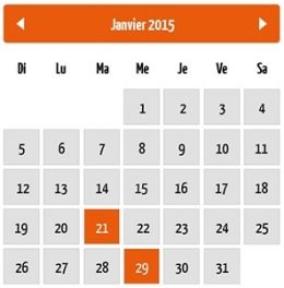 "Calendrier des ""events"" du Club Les Plaisirs Gourmands"