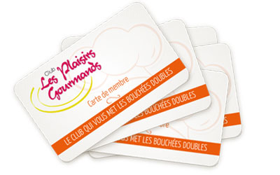 Cartes Club Plaisirs Gourmands